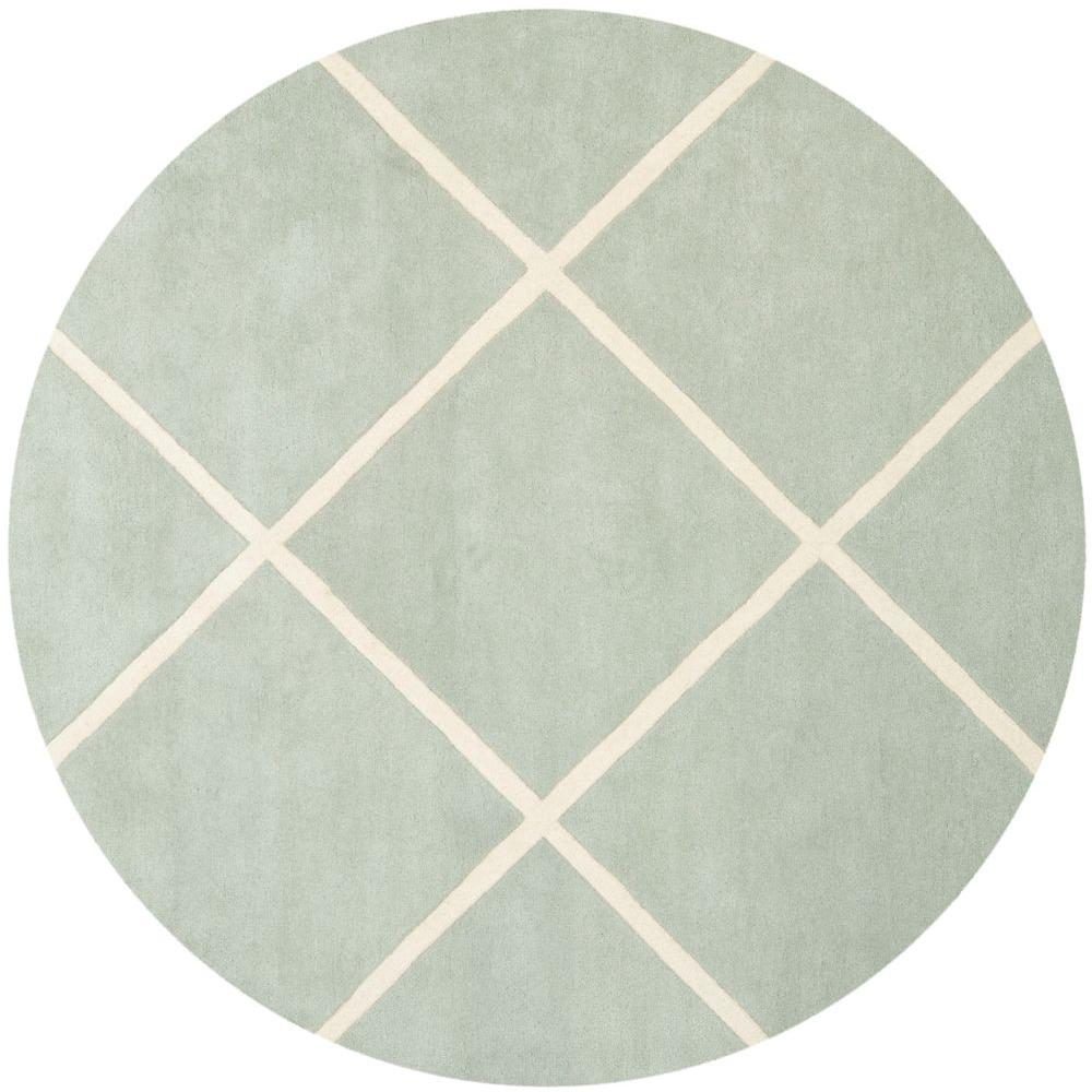 Chatham Grey/Ivory 7 ft. x 7 ft. Round Area Rug