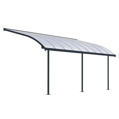 Joya 10 ft. x 18 ft. Grey Patio Cover Awning