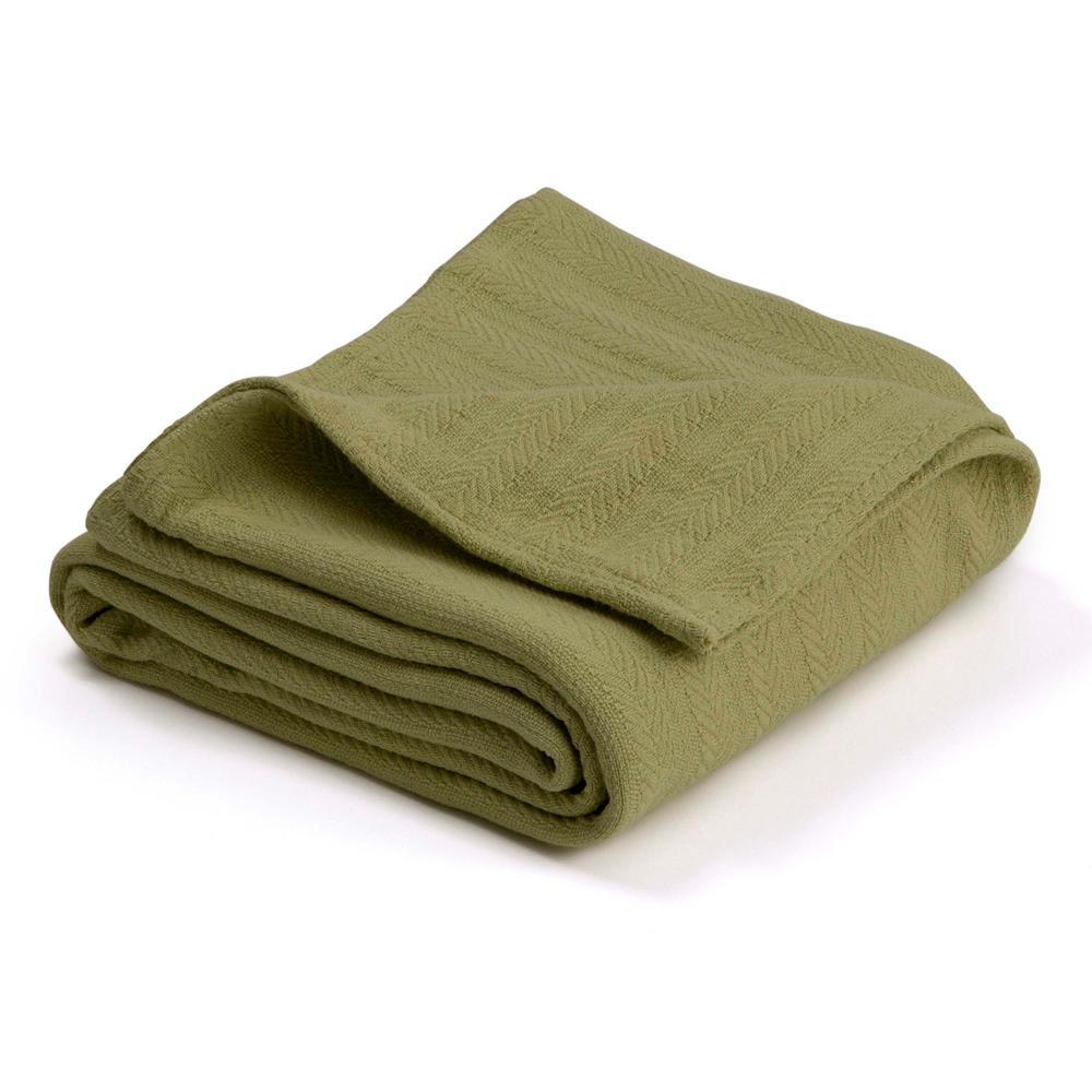 Woven Winter Pear Cotton King Blanket