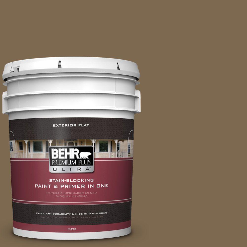BEHR Premium Plus Ultra 5-gal. #N300-7 Mayan Ruins Flat Exterior Paint