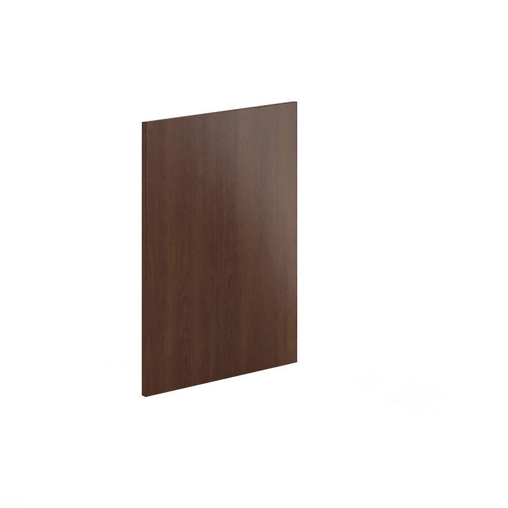 24x34.5x0.75 in. Dishwasher End Panel in Reddish Brown Veneer
