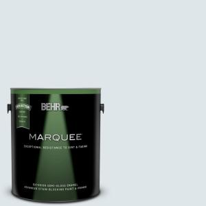Behr Marquee 1 Gal Bl W03 Blue Bird Day Semi Gloss Enamel Exterior Paint And Primer In One 545001 The Home Depot