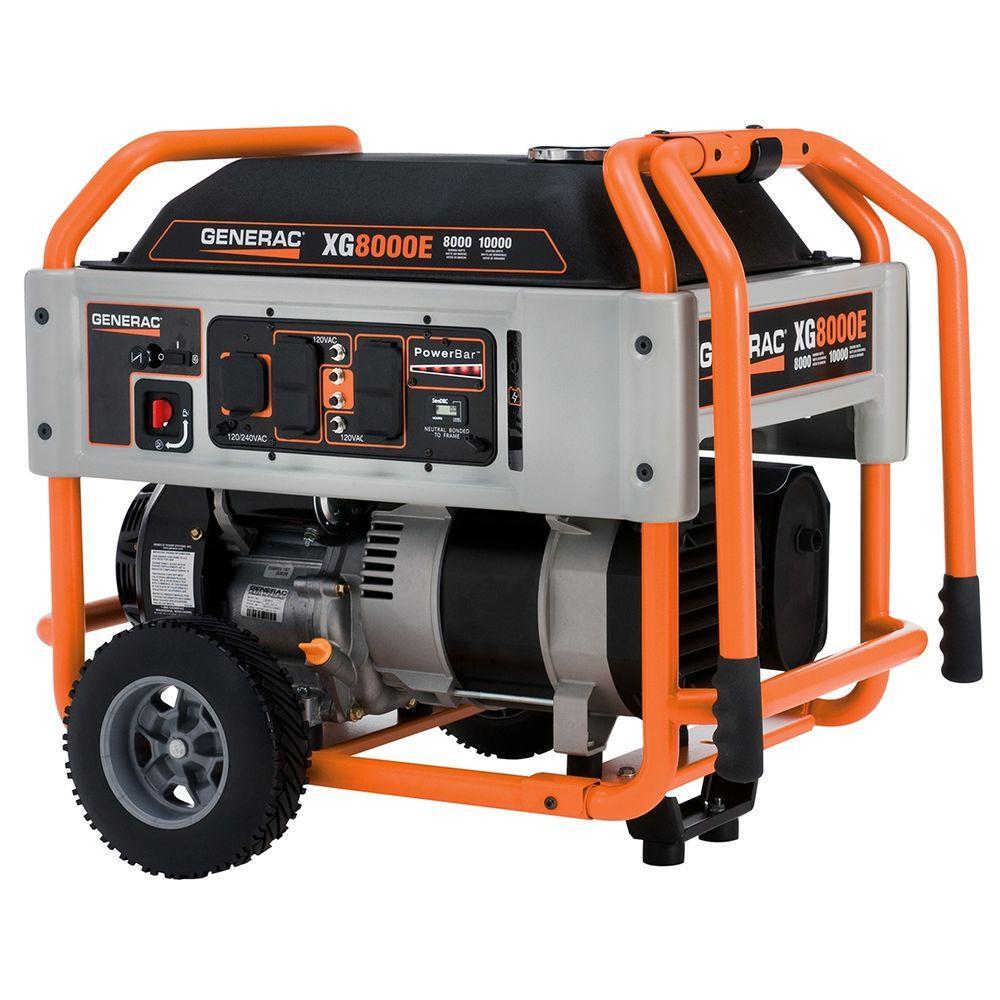 Generac 8,000-Watt Gasoline Powered Portable Generator - CARB