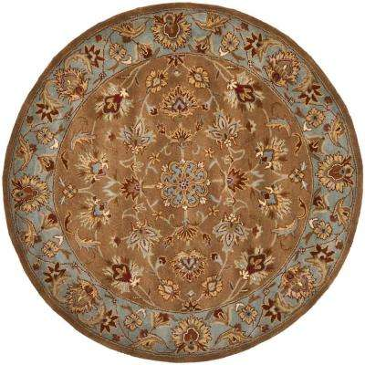 Heritage Beige/Blue 6 ft. x 6 ft. Round Area Rug