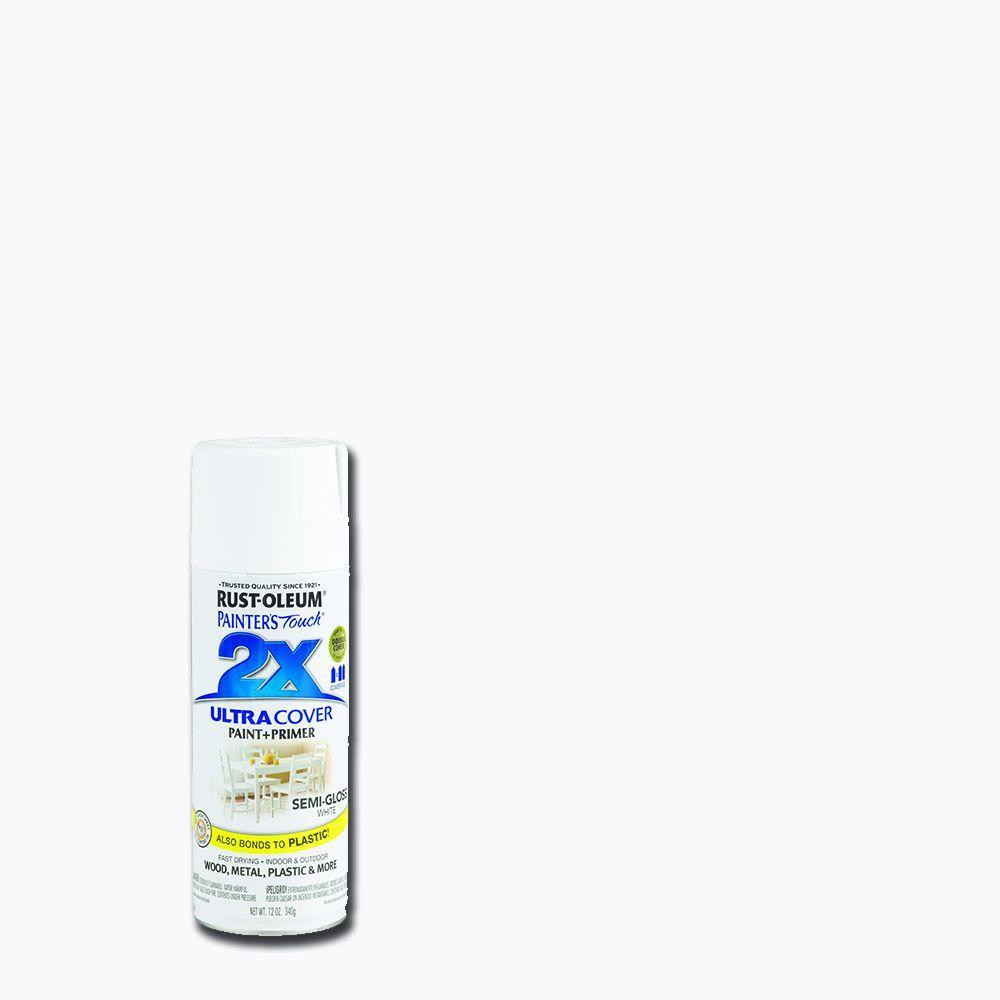 12 oz. Semi-Gloss White General Purpose Spray Paint