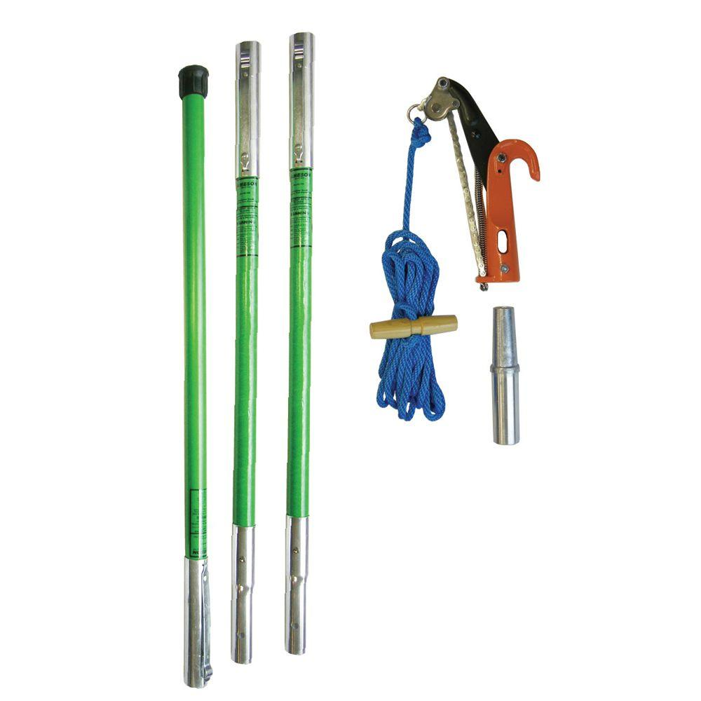Jameson Landscaper PH-11 Pruner Package with Three 6 ft. Poles