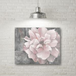 16 In X 20 In Quot Pink And Gray Magnolia Quot Canvas Wall Art