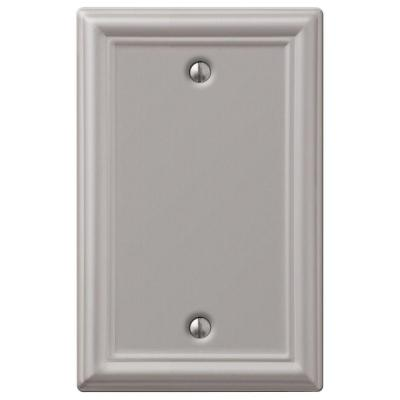 Ascher 1 Gang Blank Steel Wall Plate - Brushed Nickel