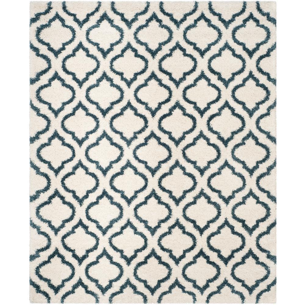 Safavieh Hudson Shag Ivory/Slate Blue 8 ft. x 10 ft. Area Rug
