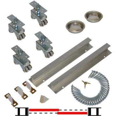 200SD Series 96 in. Track and Hardware Set for 2-Door Bypass Doors