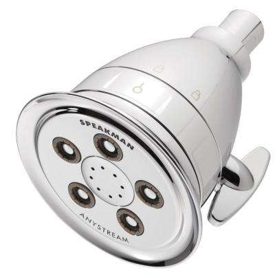 Hotel Pure 3-Spray 4.15 in. Filtered Fixed Showerhead in Polished Chrome