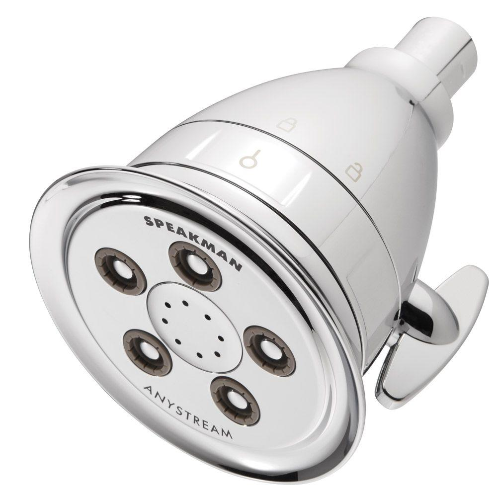 Speakman Hotel Pure 3-Spray 4.15 in. Filtered Fixed Showerhead in ...