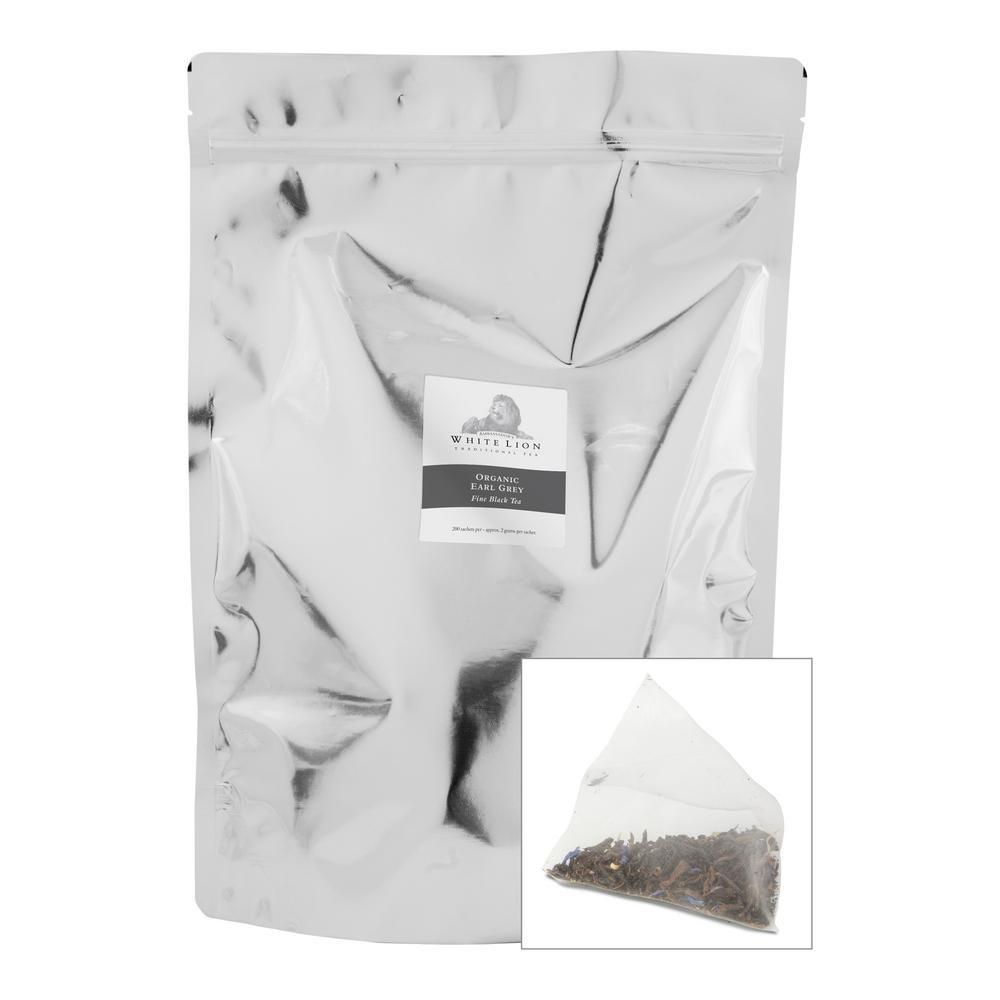 Tea Organic Earl Grey Bulk Sachets Food Service Tea Bags (200 per Pack)