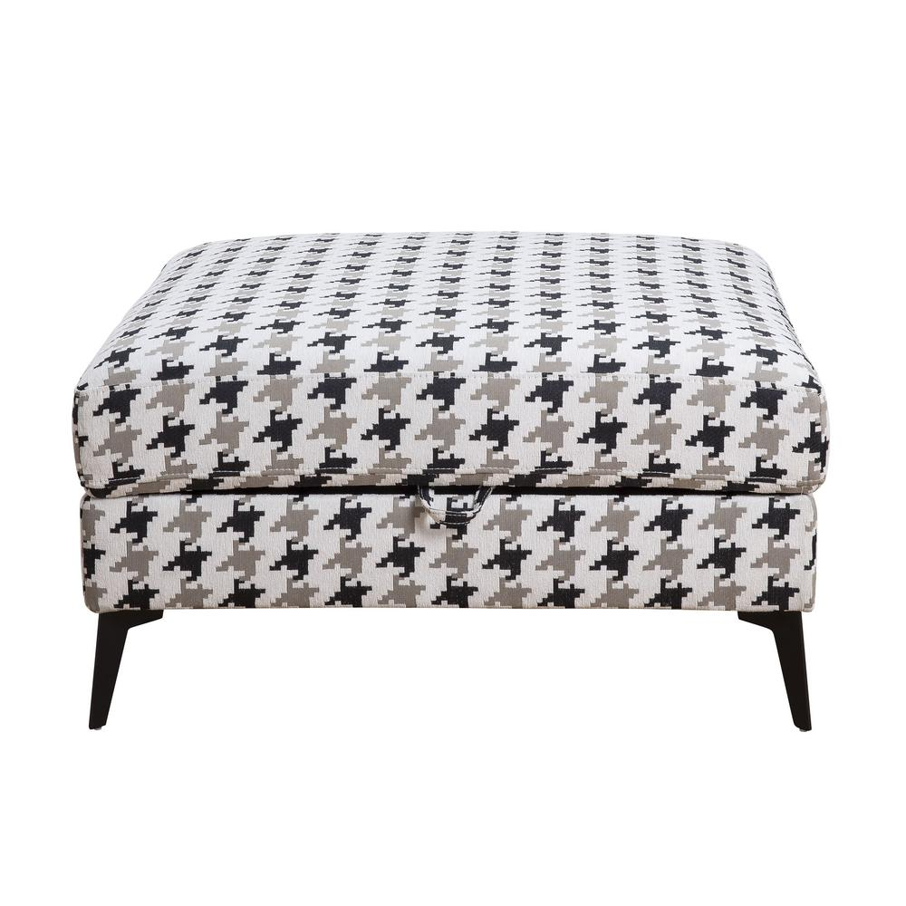 Acme Furniture Crocosmia Patterned Fabric Storage Ottoman
