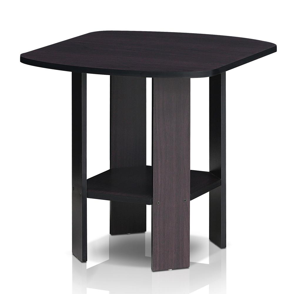 Simpli home kitchener dark walnut storage end table for Simple end table