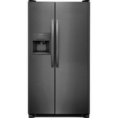 25.5 cu. ft. Side by Side Refrigerator in Black Stainless Steel