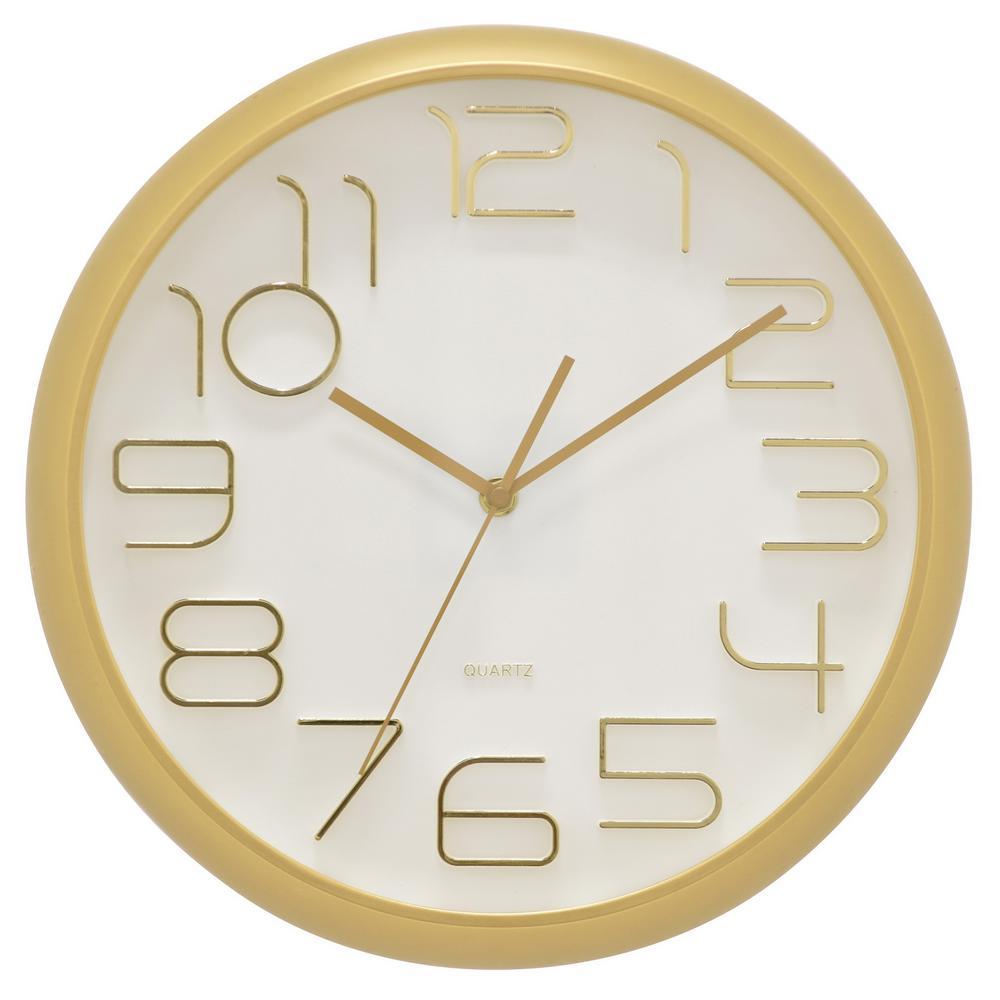 13 in. Matte Gold Wall Clock