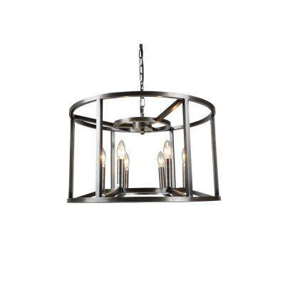 6-Light Nickel Finish Chandelier