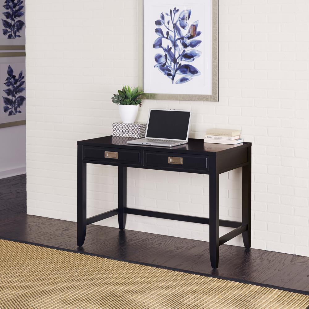 Sauder Edge Water Estate Black Desk The Home Depot Edgewater Executive