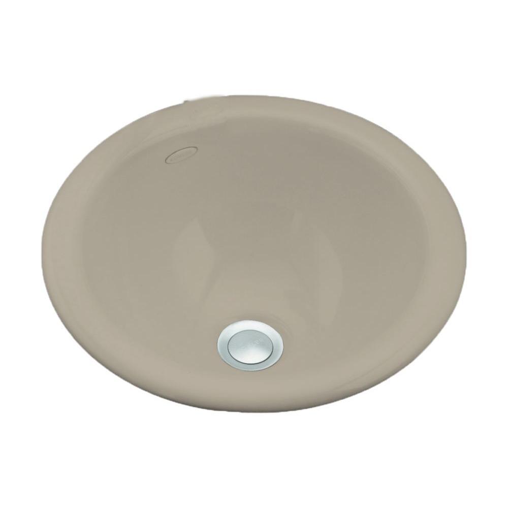 KOHLER Compass Self-Rimming/Undermount Bathroom Sink in Sandbar-DISCONTINUED