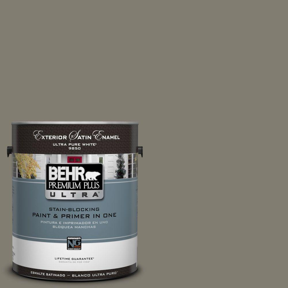 BEHR Premium Plus Ultra 1-Gal. #UL200-3 Manuscript Satin Enamel Exterior Paint