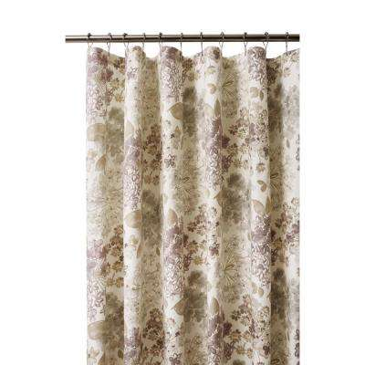 Flower Bed 72 in. Linen Shower Curtain