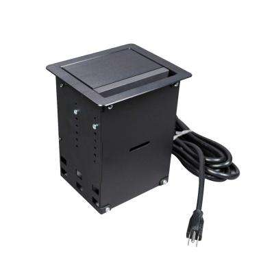 InteGreat A/V Table Box Black Anodized Finish with 12 ft. Cord