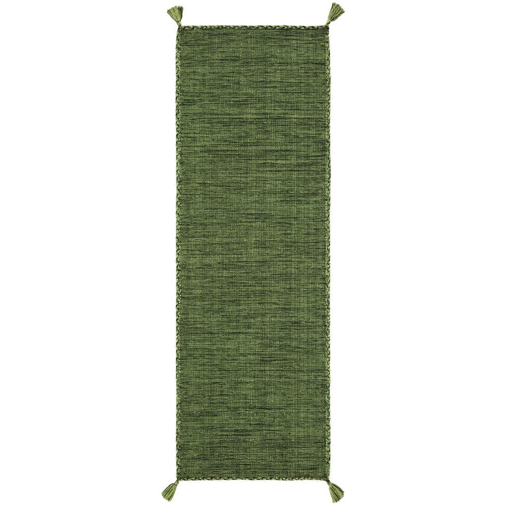 Montauk Green/Black 2 ft. 3 in. x 7 ft. Runner Rug