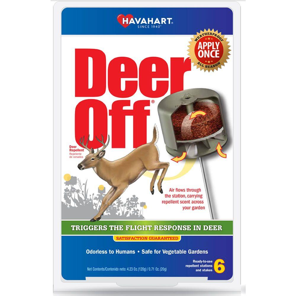 Deer Off 1.5 lb. Weatherproof Deer Repellent Stations (6-Pack)