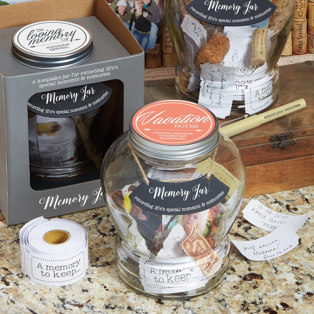 Top Shelf Clear Glass Vacation Memory Jar
