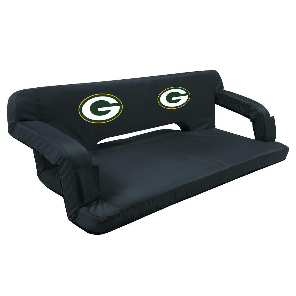 Picnic Time Green Bay Packers Black Reflex Travel Couch