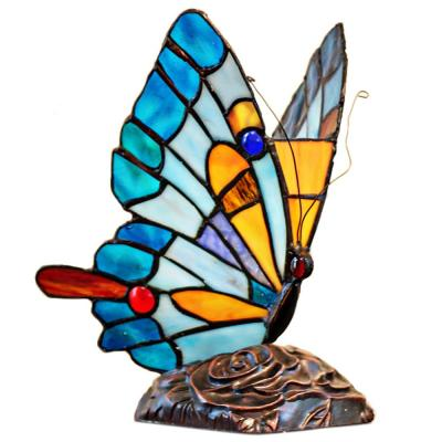 9 in. Multi-Colored Butterfly Accent Lamp