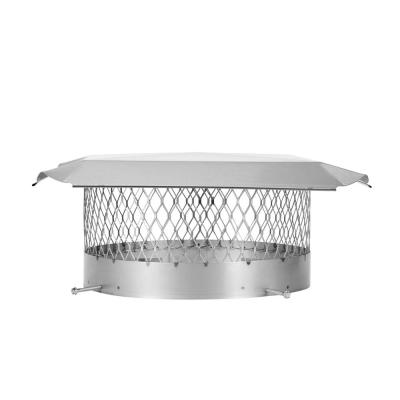 14 in. Round Bolt-On Single Flue Chimney Cap in Stainless Steel