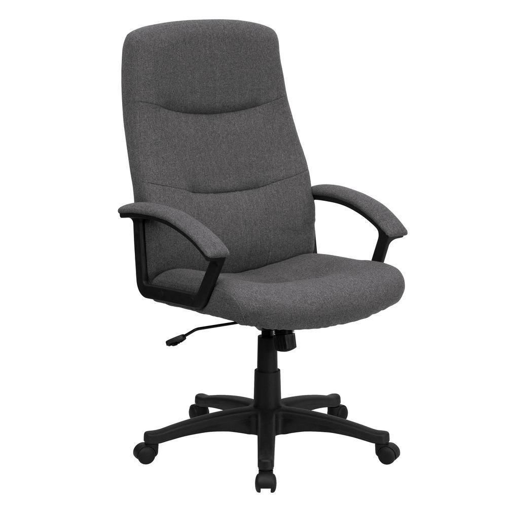 Flash Furniture High Back Gray Fabric Executive Swivel Office Chair BT134AGY