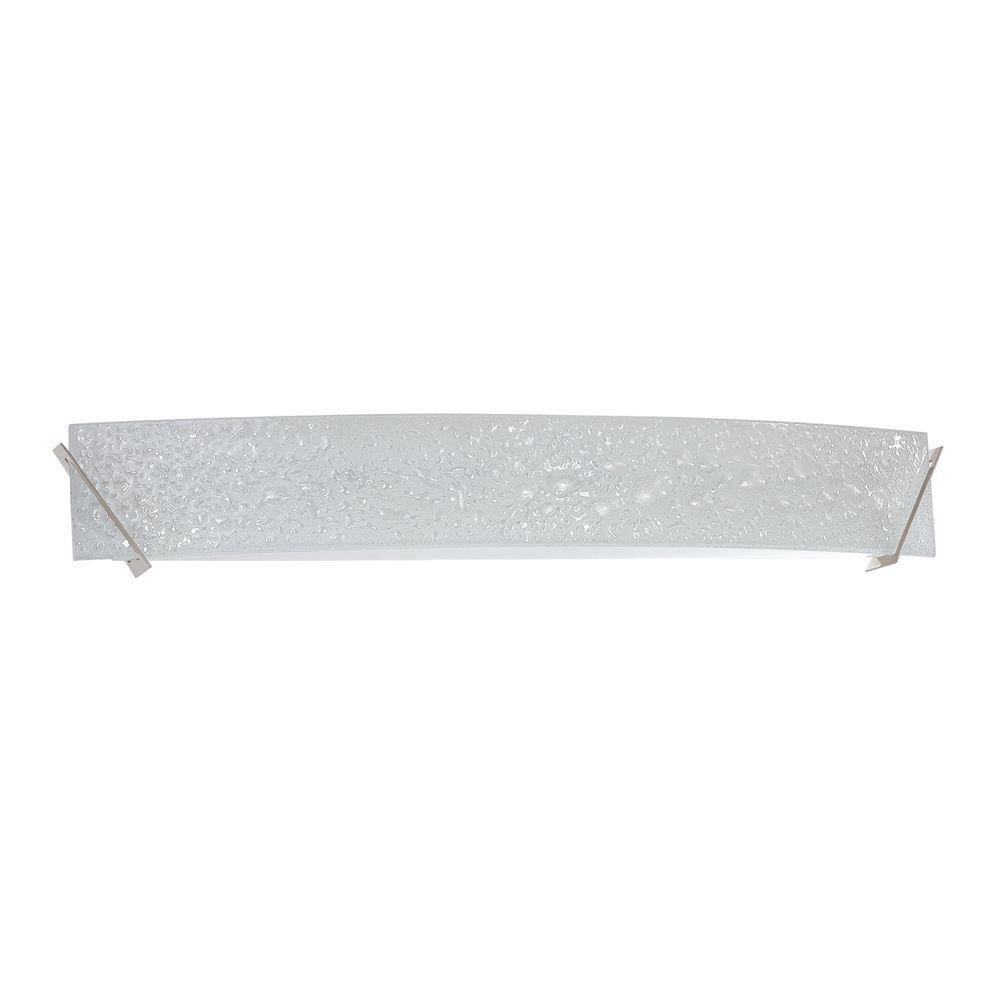 Designers Choice Collection Michaela 6-Light Satin Nickel Vanity Light with Curved Bubble Glass Shade