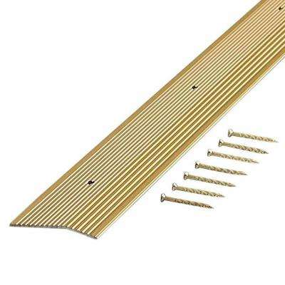 Satin Brass Fluted 72 in. x 1-3/8 in. Carpet Trim