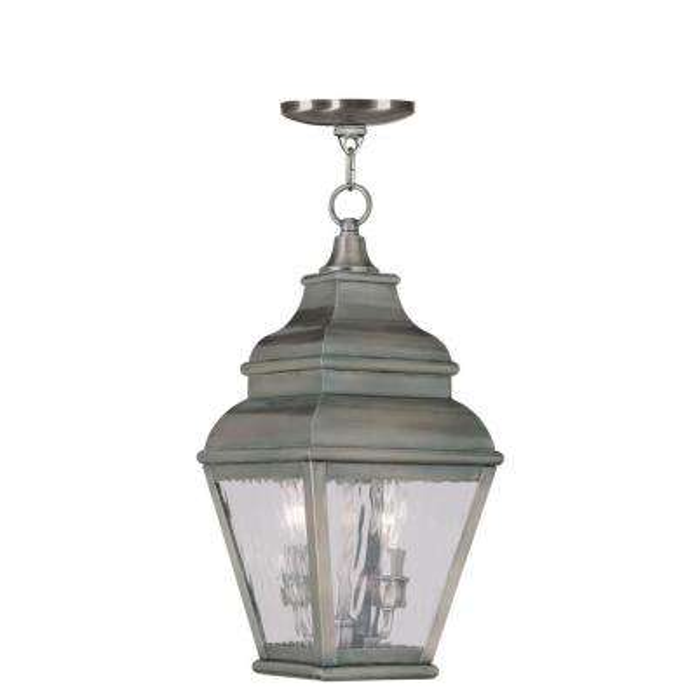 Providence 2-Light Vintage Pewter Outdoor Incandescent Hanging Lantern