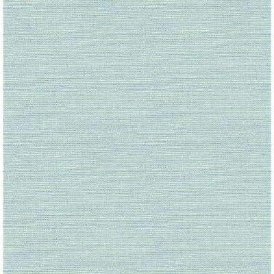 Agave Teal Faux Grasscloth Paper Strippable Roll (Covers 56.4 sq. ft.)