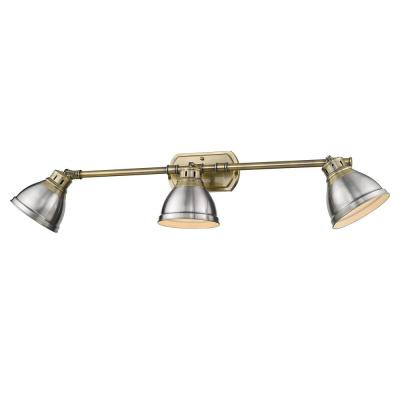 Duncan AB 8.25 in. 3-Light Aged Brass Vanity Light