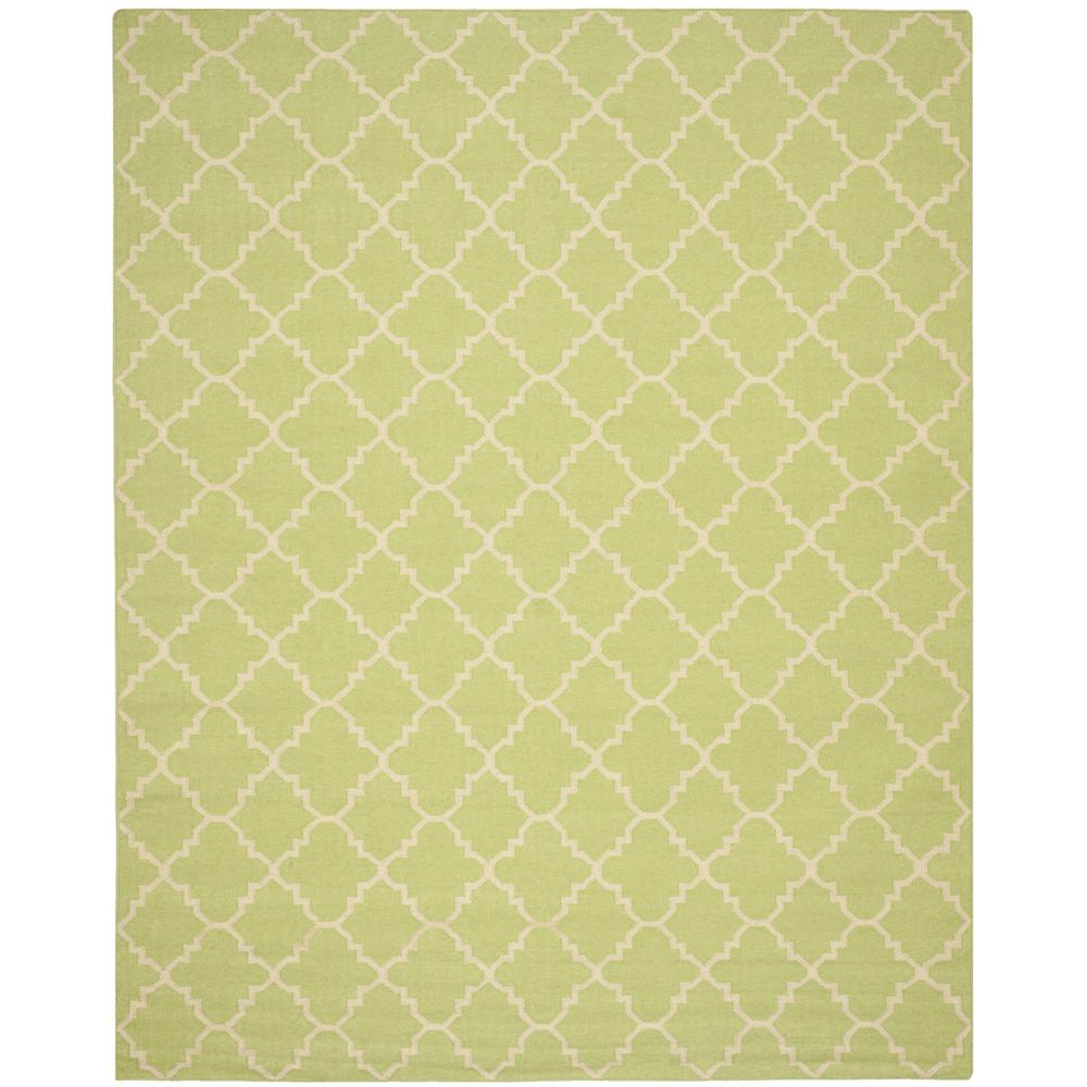 Dhurries Light Green/Ivory 10 ft. x 14 ft. Area Rug