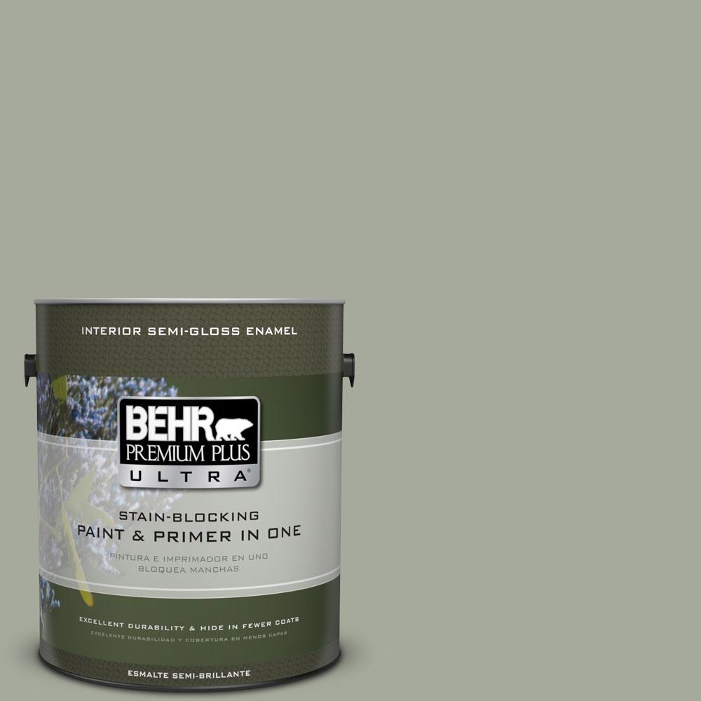 BEHR Premium Plus Ultra Home Decorators Collection 1-gal. #HDC-AC-18 Garden Promenade Semi-Gloss Enamel Interior Paint