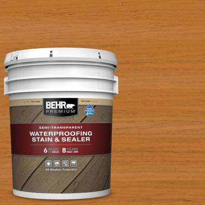 5 gal. #ST-140 Bright Tamra Semi-Transparent Waterproofing Exterior Wood Stain and Sealer