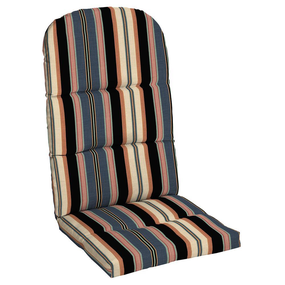20.5 in. x 31 in. Bradley Stripe Outdoor Adirondack Chair Cushion