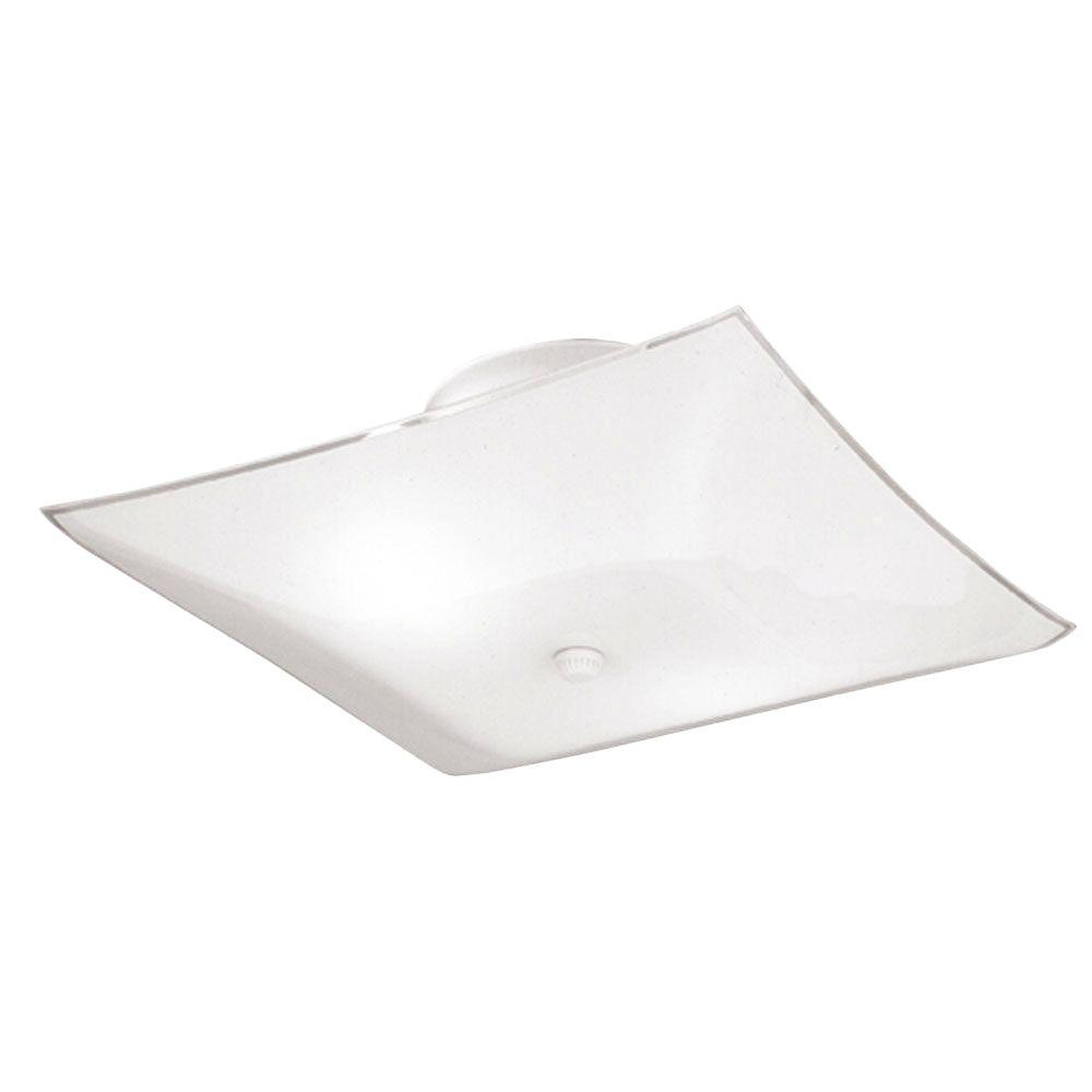 Westinghouse 2 Light White Interior Ceiling Semi Flush Mount With Gl