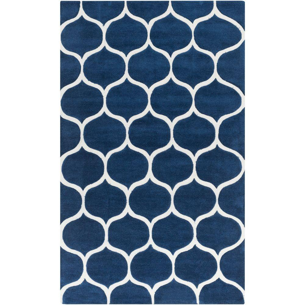 Huedin Navy 5 ft. x 8 ft. Indoor Area Rug
