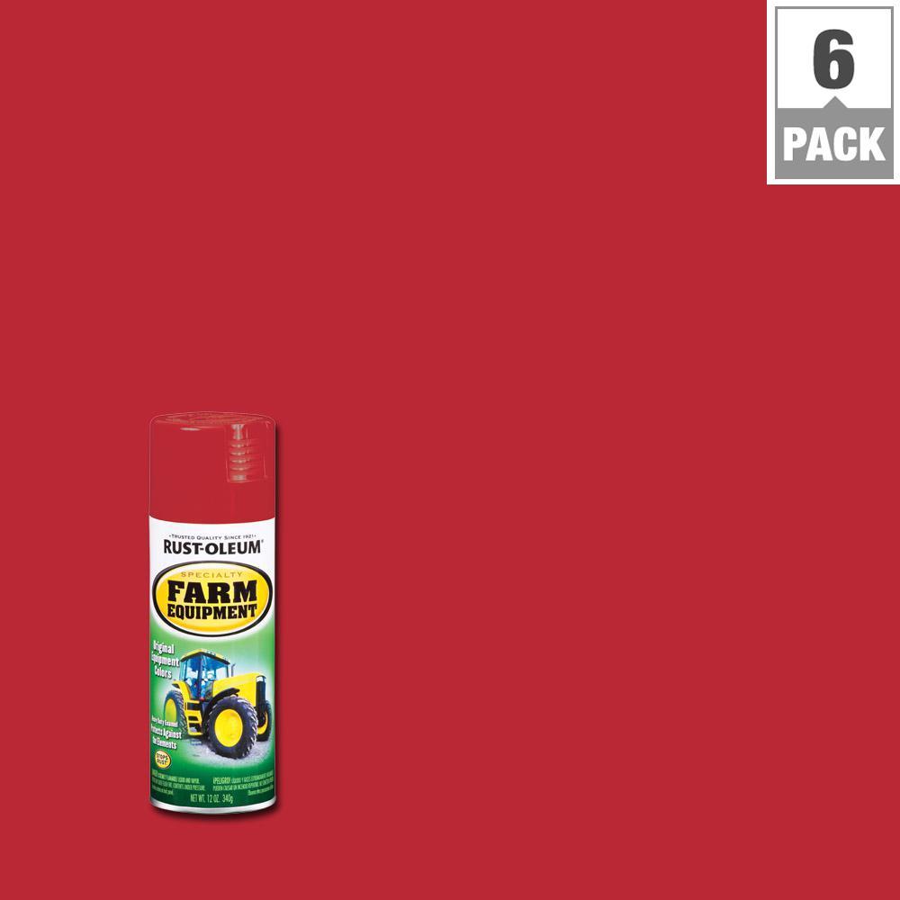 12 oz. International Red Gloss Farm Equipment Spray Paint (6-Pack)