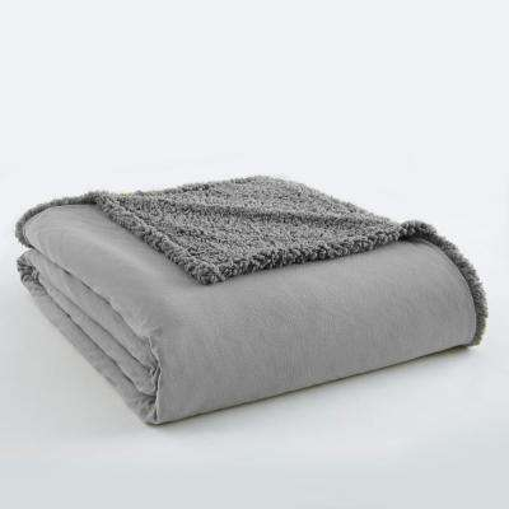Greystone Sherpa Back Polyester Twin Blanket