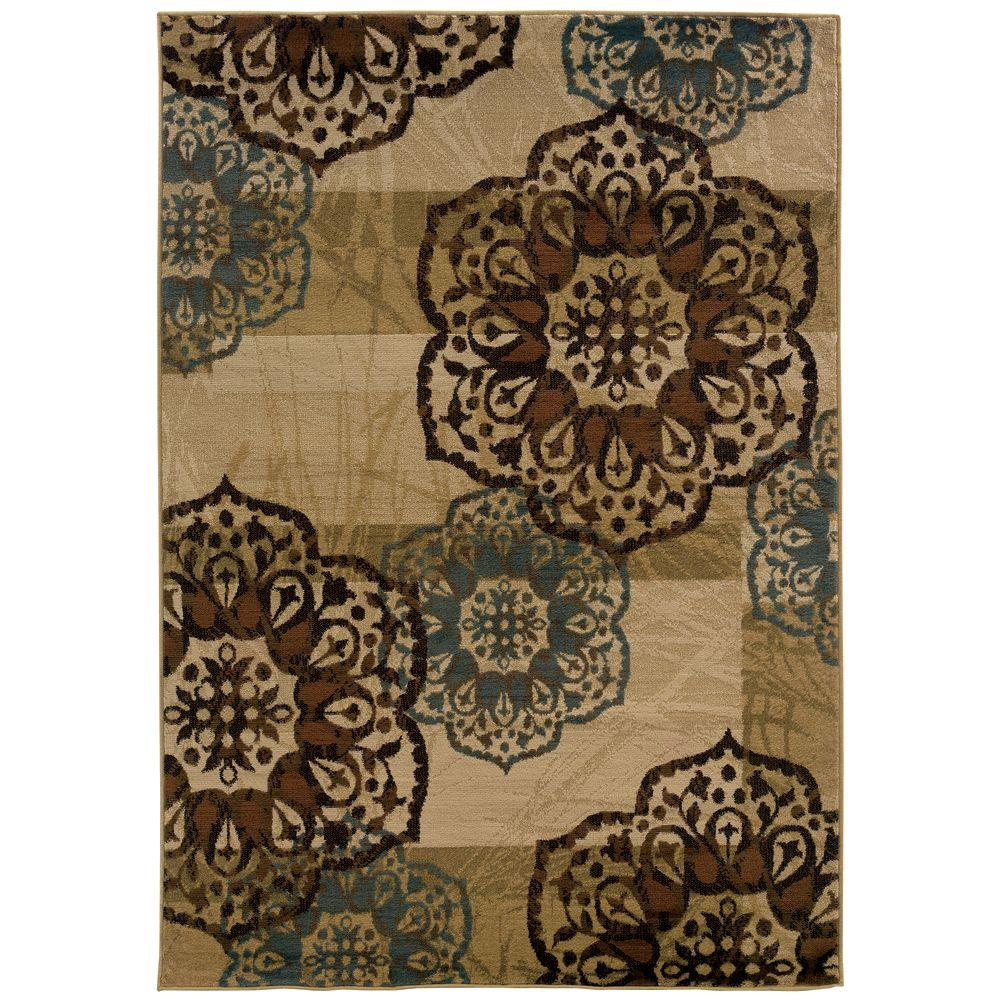 Oriental Weavers Camille Keaton Beige 7 ft. 10 in. x 10 ft. Area Rug-DISCONTINUED