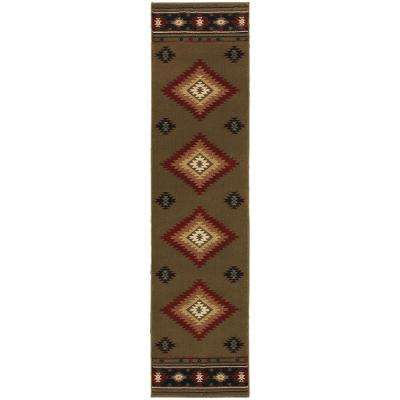 Catskill Green 2 ft. x 8 ft. Runner Rug