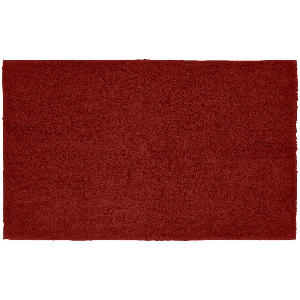 Red Bathroom Rug: Garland Rug Queen Cotton Chili Pepper Red 30 In. X 50 In